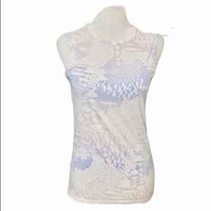{LUCY} Snakeskin Print Athletic Tank Top